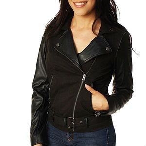 Lucky Live in Love Moto jacket faux leather cotton